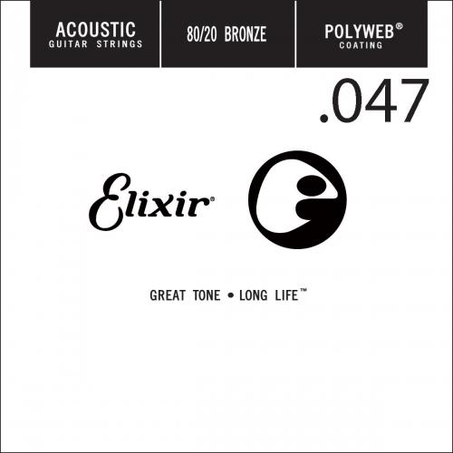 Elixir 13147 Polyweb Bronze Acoustic .047 Losse Snaar