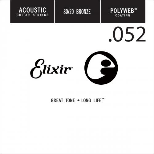 Elixir 13152 Polyweb Bronze Acoustic .052 Losse Snaar