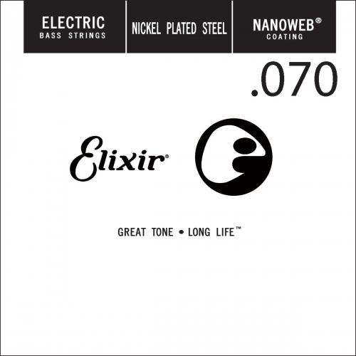 Elixir 15370 Nanoweb .070 Losse Bassnaar