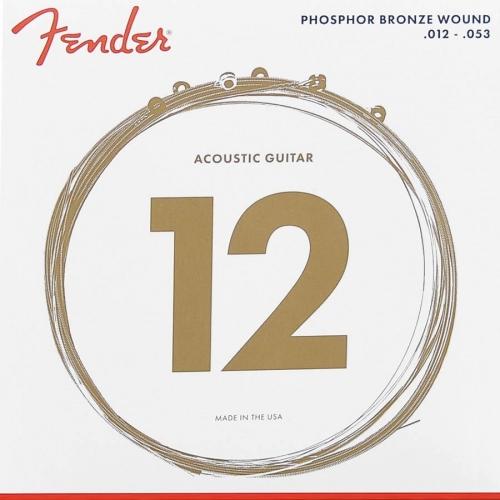 Fender 60L Phosphor Bronze Snaren voor Akoestische Gitaar (12-53)