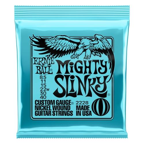 Ernie Ball 2228 Mighty Slinky Elektrische Gitaarsnaren (8.5-40)