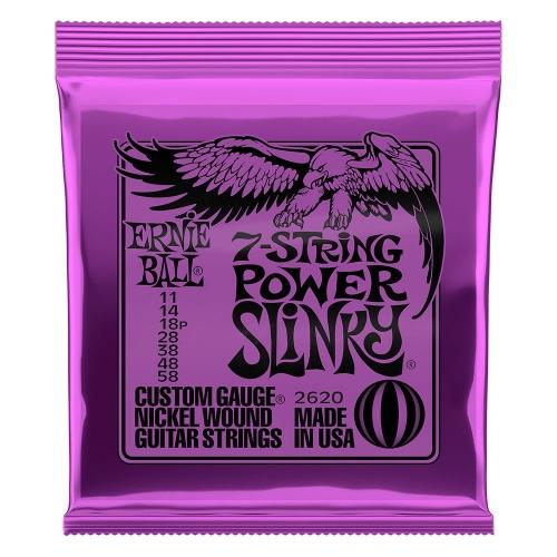 Ernie Ball 2620 Power Slinky voor 7-Snarige Elektrische Gitaar (11-58)