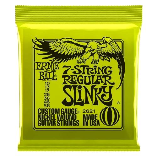 Ernie Ball 2621 Regular Slinky Snaren voor 7-Snarige Elektrische Gitaar (10-56)