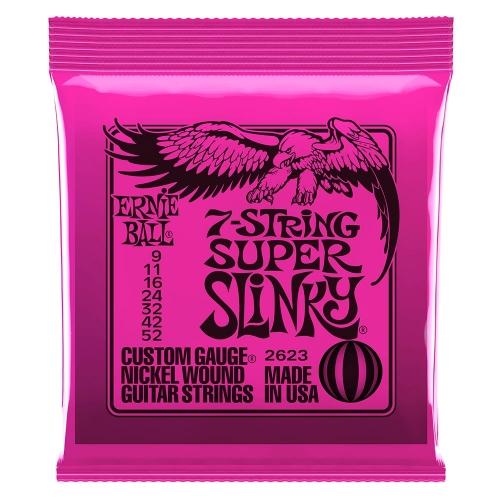 Ernie Ball 2623 Super Slinky Snaren voor 7-Snarige Elektrische Gitaar (9-52