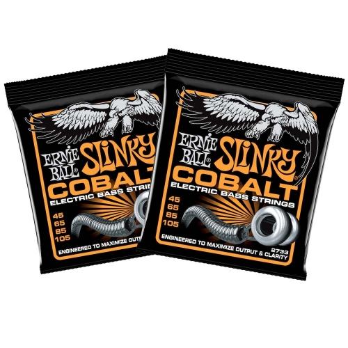 Ernie Ball 2733 Hybrid Slinky Cobalt Snaren voor Elektische Basgitaar (45-105) 2-Pack