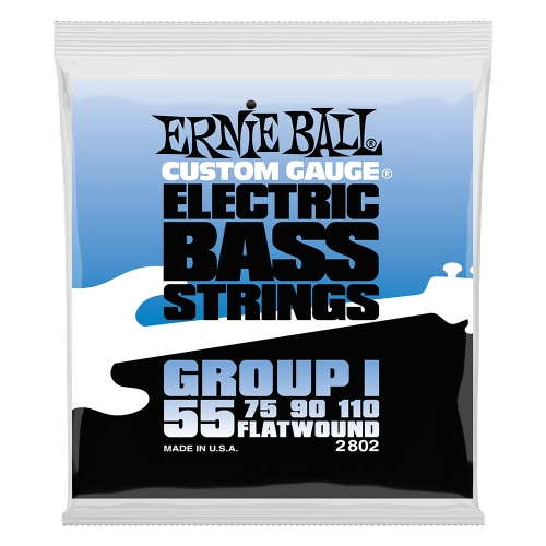 Ernie Ball 2802 Group I Flatwound Bassnaren (55-110)
