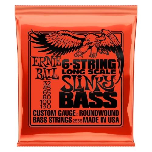 Ernie Ball 2838 Slinky Snaren voor 6-Snarige Basgitaar (32-130)