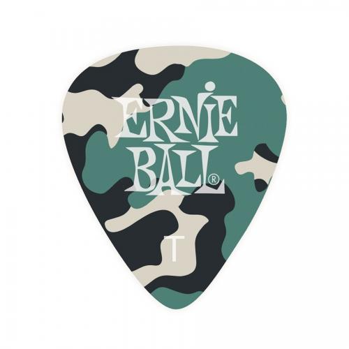 Ernie Ball Camouflage Plectrum Thin - Per Stuk