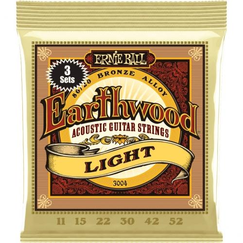 Ernie Ball Earthwood 2004 Snaren Akoestische Gitaar (11-52) 3-Pack