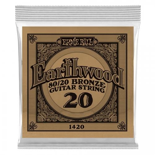 Ernie Ball EB1420 Earthwood Brons Acoustic .020 Losse Snaar