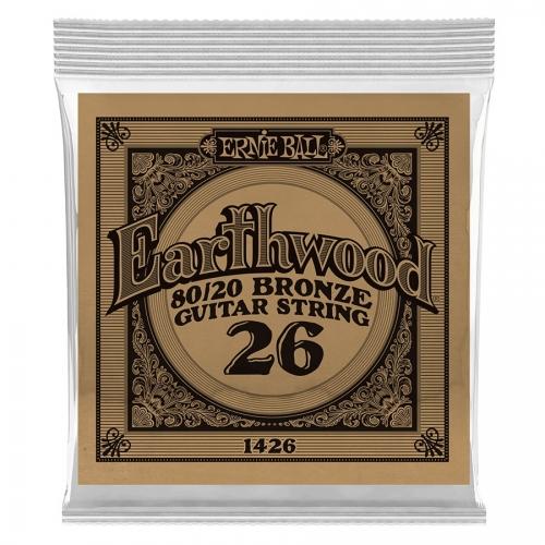 Ernie Ball EB1426 Earthwood Bronze Acoustic .026 Losse Snaar