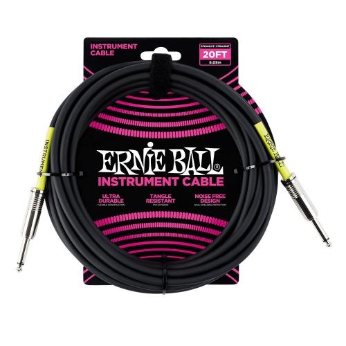 Ernie Ball EEB6046 Gitaarkabel 6 Meter Zwart