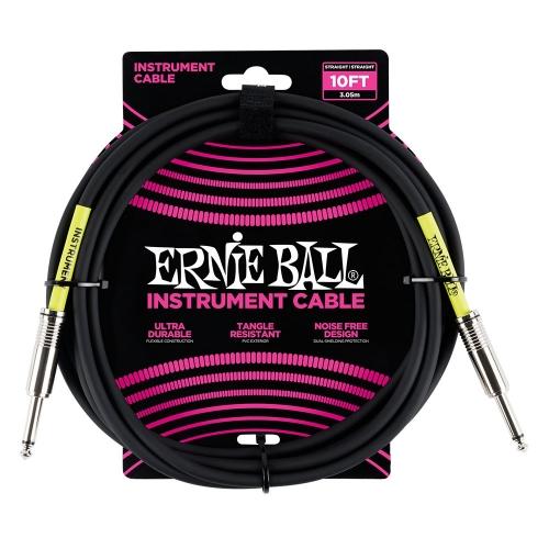 Ernie Ball EEB6048 Gitaarkabel 3 Meter Zwart