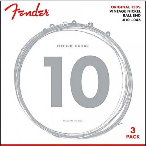 Fender 150R-3 Snaren Original voor Elektrische Gitaar (10-46) 3-Pack