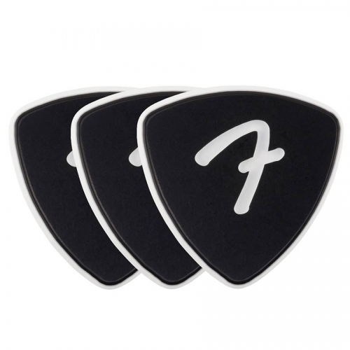Fender 346 Celluloid Plectrum 3-Pack - F-Grip, 1.5mm - Zwart