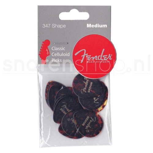 Fender 347 Classic Celluloid Shell Medium / 1.0mm 12-Pack 0980347800