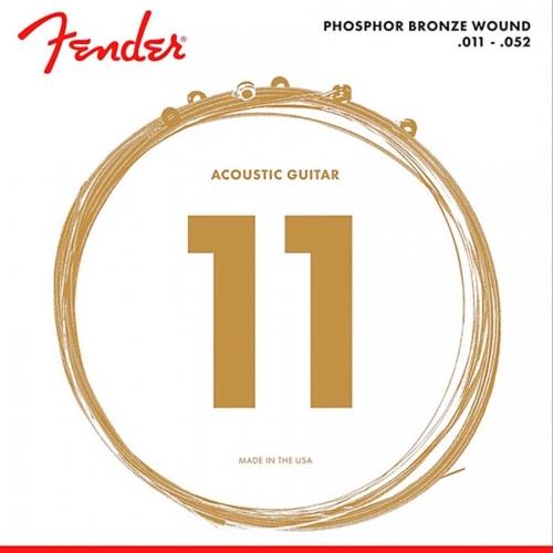 Fender 60CL Phosphor Bronze Snaren voor Akoestische Gitaar (11-52)