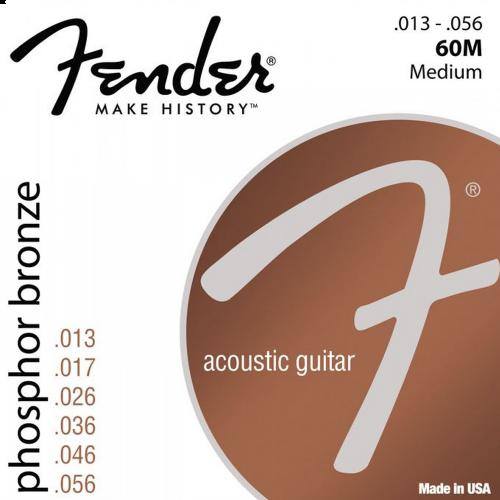 Fender 60M Phosphor Bronze Snaren voor Akoestische Gitaar (13-56)
