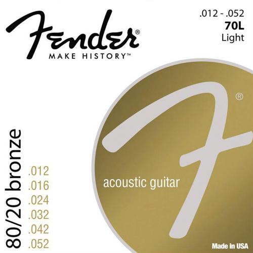 Fender 70L Bronze Snaren voor Akoestische Gitaar (12-52)
