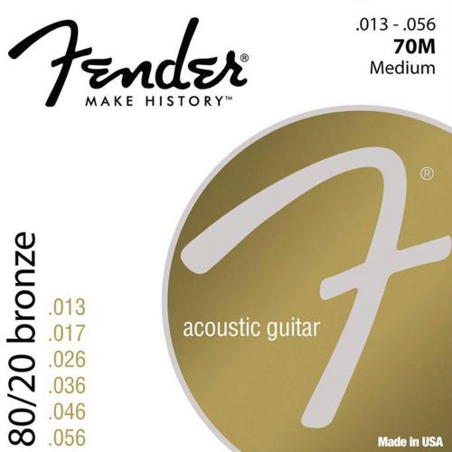 Fender 70M Snaren voor Akoestische Gitaar (13-56)