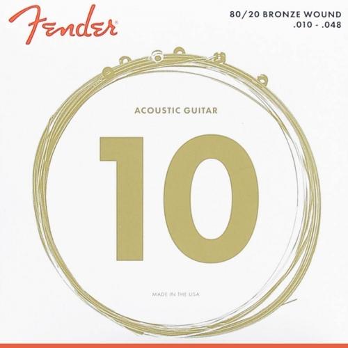 Fender 70XL Bronze Snaren voor Akoestische Gitaar (10-48)
