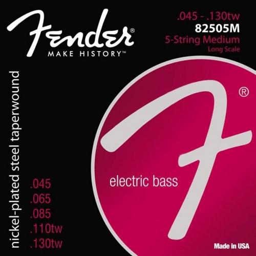 Fender 82505M Taperwound Snaren voor 5-Snarige Elektrische Basgitaar (45-130)