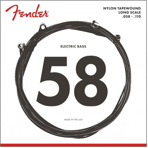 Fender 9120M Nylon Tapewound Snaren voor Elektrische Basgitaar (58-110)