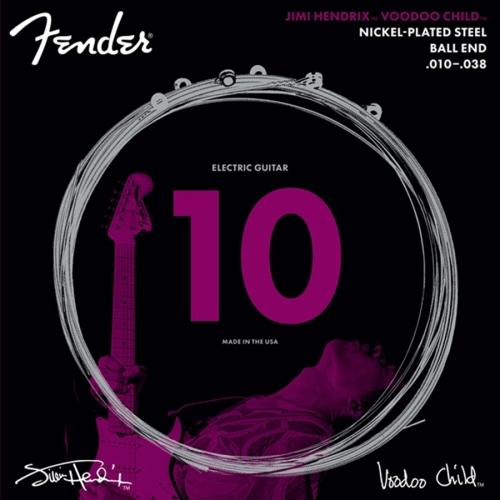 Fender Jimi Hendrix NPS Voodoo Child Snaren (10-38) met Bal Einde