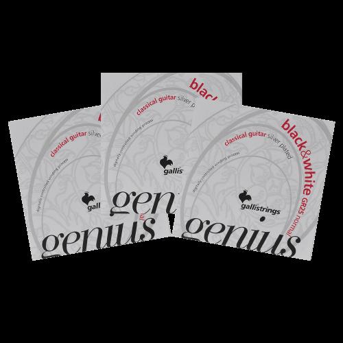 Galli GR25 Genius Klassieke Snaren - Normale Spanning 3-Pack