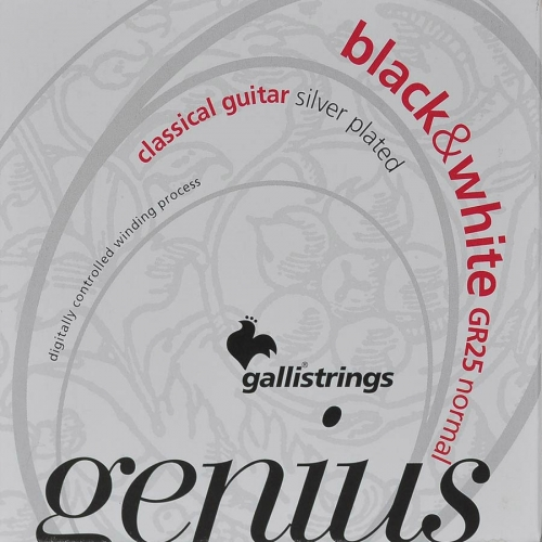 galli gr25 genius snaren klassiek black nylon
