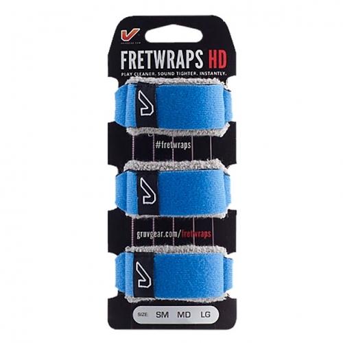 GruvGear FW-3PK-BLU-MD Fretwraps Blauw Medium 3-Pack