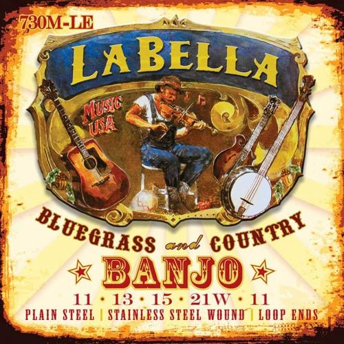 La Bella 730M-LE Nickel Plated Wound Snarenset voor 5-Snarige Banjo (11-21)