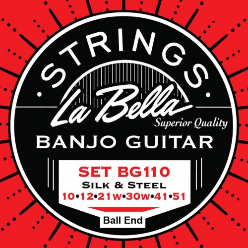 La Bella BG110-BE Silk&Steel Snarenset voor 6-Snarige Gitaarbanjo (10-51)
