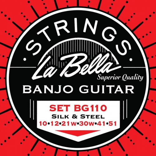 La Bella BG110-LE Silk&Steel Snarenset voor 6-Snarige Gitaarbanjo (10-51)