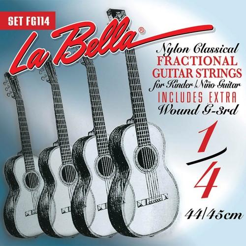 La Bella FG114 1/4 Mensuurlengte Klassieke Gitaarsnaren - Normale Spanning