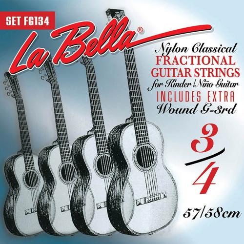 La Bella FG134 3/4 Mensuurlengte Klassieke Gitaarsnaren - Normale Spanning