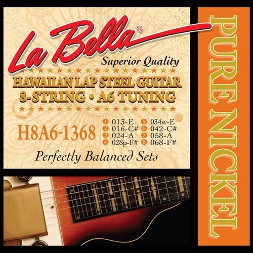 La Bella H8A6-1368 Snaren voor Lap Steel Gitaar