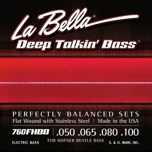 La Bella L760FHBB Snaren voor Elektrische Vioolbasgitaar (50-100)