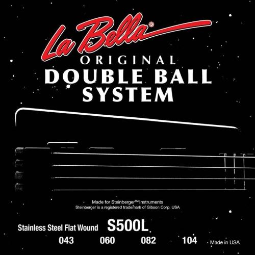 La bella S500L Bassnaren, Flatwound voor Steinberger basgitaar