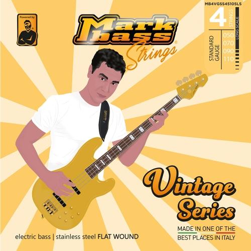 Markbass MB4VGSS50110LS Vintage Series Flatwound Bassnaren (50-110)