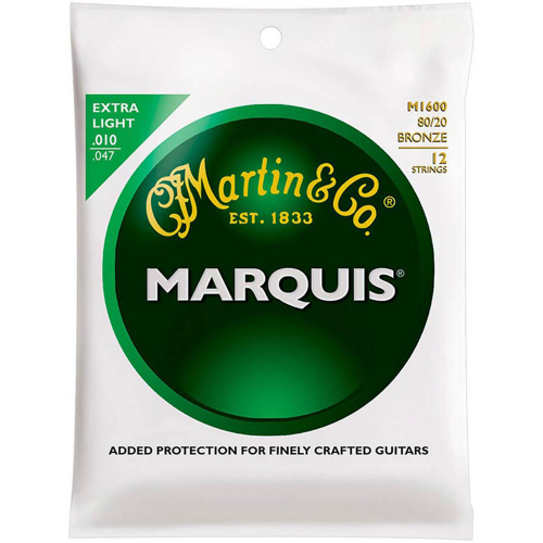 Martin M1600 Marquis Snaren voor 12-Snarige Akoestische Gitaar (10-47
