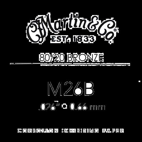 martin m26b losse bronzen snaar voor akoestische gitaar