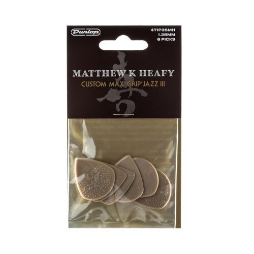 Dunlop 471P3SMH Matt Heafy Custom Max Grip Jazz III Plectrum 6-Pack