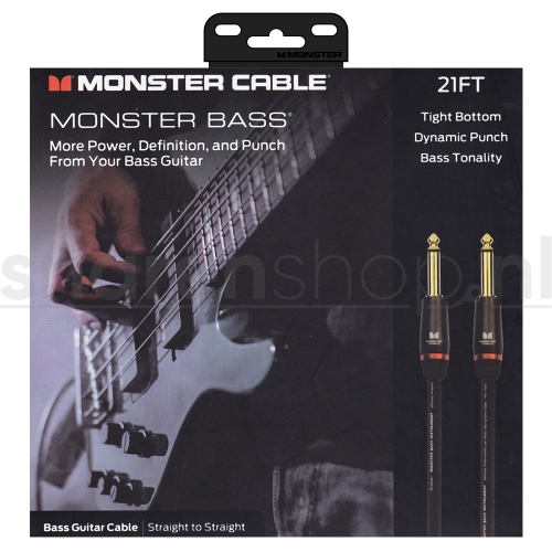 Monster Cable Bass2-21 Basgitaarkabel 6.4 Meter