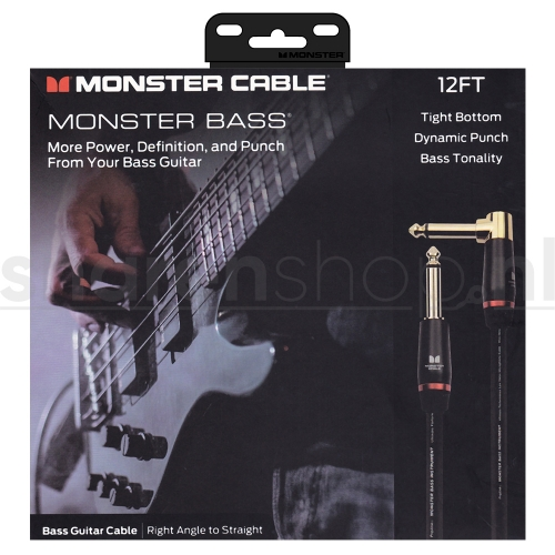 Monster Cable Bass2-12A Basgitaarkabel 3.65 Meter