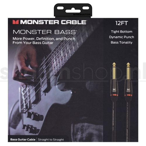 Monster Cable Bass2-12 Basgitaarkabel 3.65 Meter