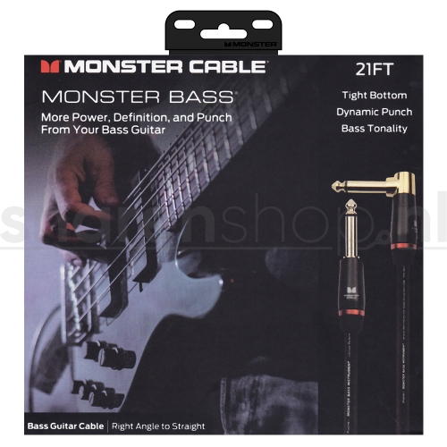 Monster Cable Bass2-21A Basgitaarkabel 6.4 Meter