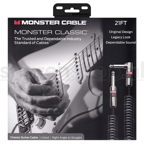 Monster Cable Classic CC21 Coiled / Gekrulde Gitaarkabel 6.4 Meter