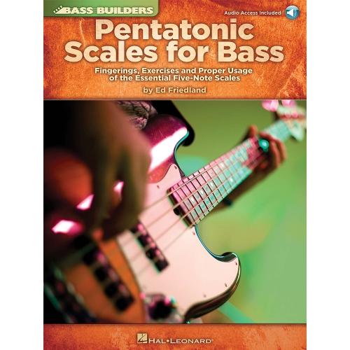 Lesboek pentatonic scales voor basgitaar