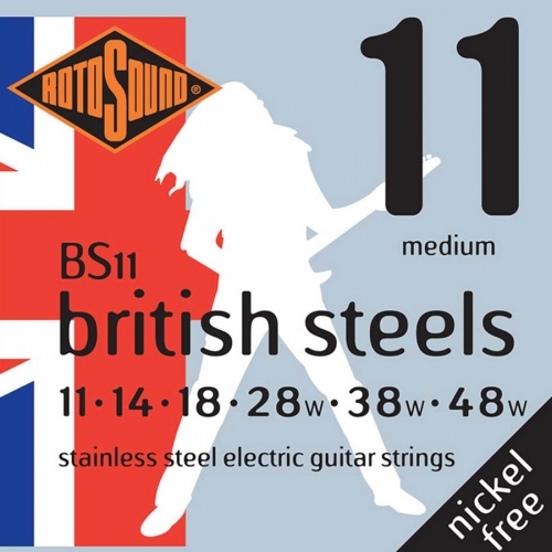 Rotosound BS11 British Steels Gitaarsnaren voor Elektrische Gitaar (11-48)